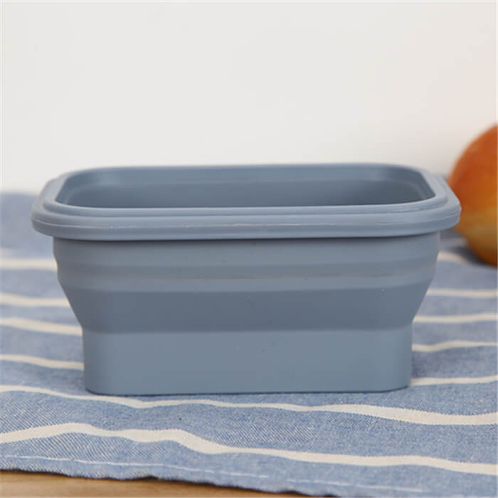 Traveling Square Silicone Airtight Foldable Container