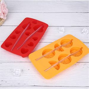 Silicone Double Row Household Orange Shape Ice Mold
