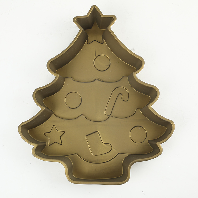 Christmas Design Silicone Gold And Silver Cake Molds