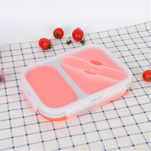 Folding Travel Silicone Safety Lunch Box